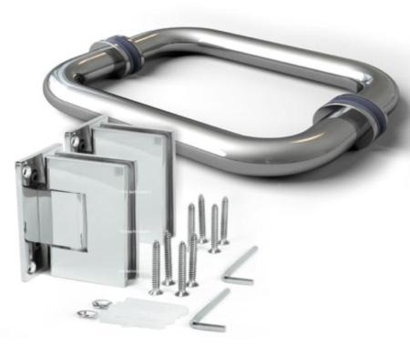 shower door hardware mounting clip